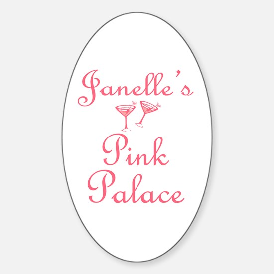 Janelle's Pink Palace Oval Decal