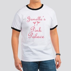 Janelle's Pink Palace Ringer T