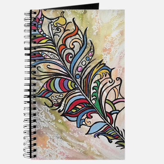 Colourful feather Journal