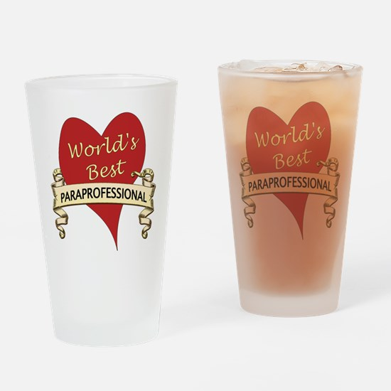 Funny Paraeducator Drinking Glass