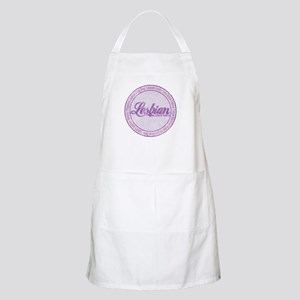 Purple Lesbian Since Birth BBQ Apron