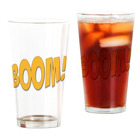Boom! Drinking Glass