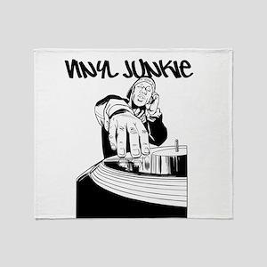 Vinyl Junkie Dj Tee Throw Blanket