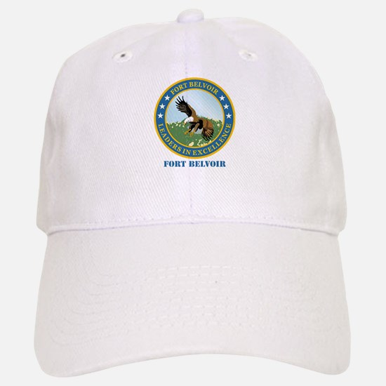 Fort Belvoir with Text Baseball Baseball Cap