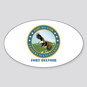 Fort Belvoir with Text Sticker (Oval)