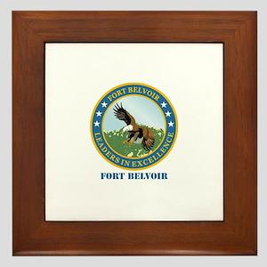Fort Belvoir with Text Framed Tile