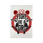 Fight like a girl Rectangle Magnet