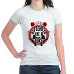 Fight like a girl Jr. Ringer T-Shirt