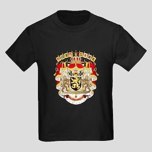 Belgium Coat Of Arms Kids Dark T-Shirt