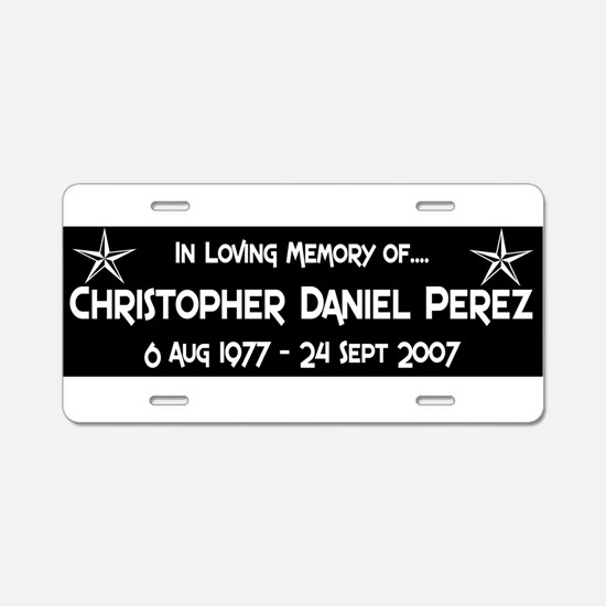 CDP6S8WHT.png Aluminum License Plate