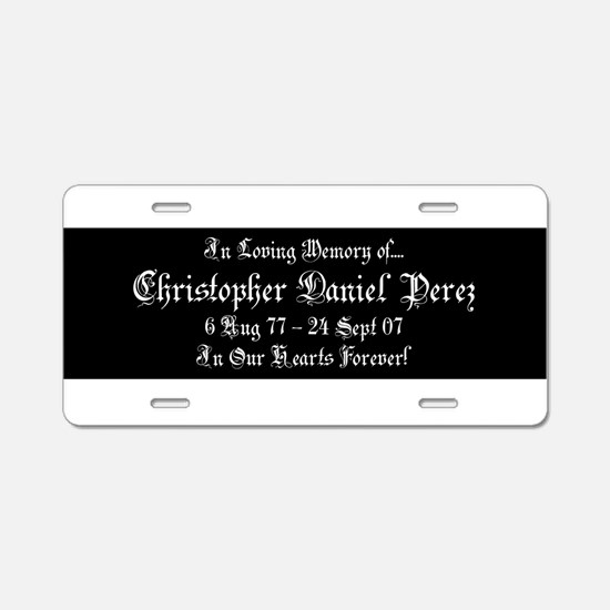 CDP2Z1BLK.png Aluminum License Plate
