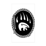Tribal Bear Claw Art  Sticker (Rectangle 10 pk)
