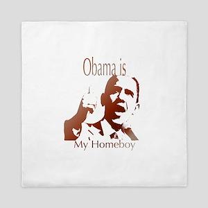 obama is my homeboy Queen Duvet