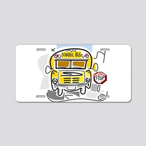j0410911_school bus Aluminum License Plate