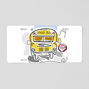 j0410911_school bus Aluminum License Plate