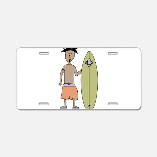surfing_5.png Aluminum License Plate