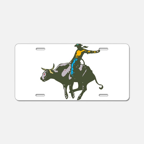 BULLRIDER1.png Aluminum License Plate