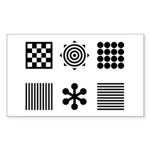 Baby Visual Stimulation  Sticker (Rectangle 10 pk)