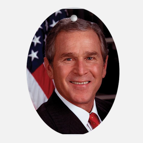 George W. Bush Ornament (Oval)