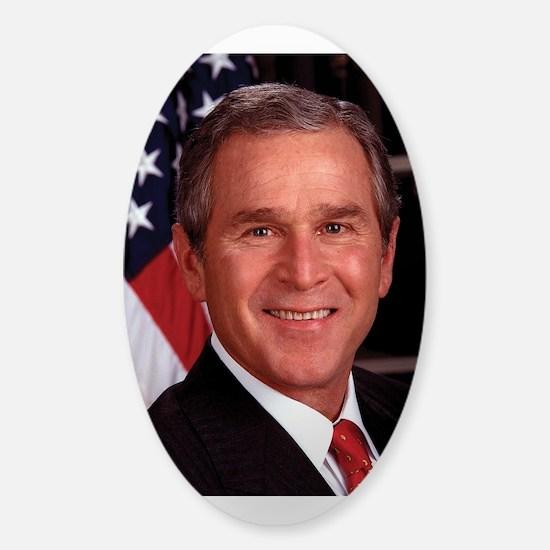 George W. Bush Sticker (Oval)