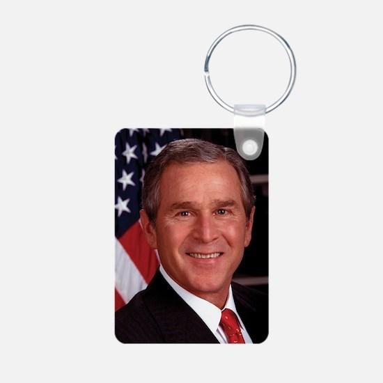George W. Bush Aluminum Photo Keychain