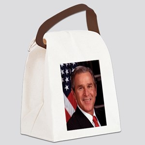 George W. Bush Canvas Lunch Bag
