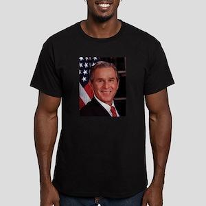 George W. Bush Men's Fitted T-Shirt (dark)