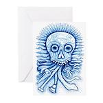 Calaca Dia Muertos Greeting Cards (Pk of 10)