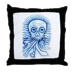 Calaca Dia Muertos Throw Pillow