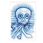 Calaca Dia Muertos Postcards (Package of 8)
