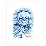 Calaca Dia Muertos Small Poster