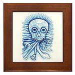 Calaca Dia Muertos Framed Tile