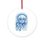 Calaca Dia Muertos Ornament (Round)