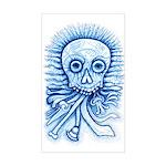 Calaca Dia Muertos Sticker (Rectangle)
