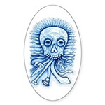Calaca Dia Muertos Sticker (Oval)