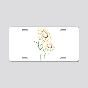 sunflowers2-67 Aluminum License Plate