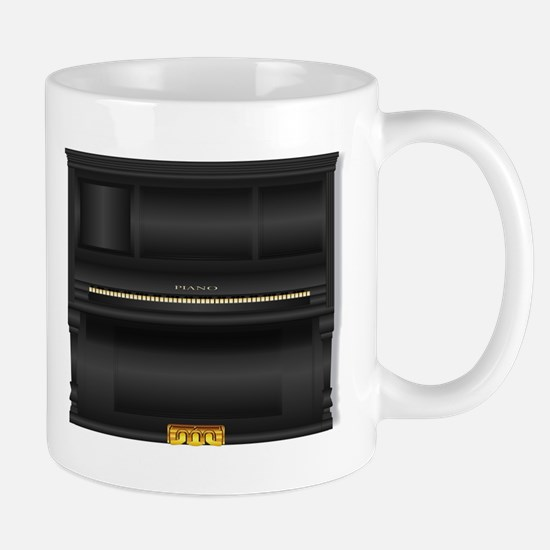 Black Upright Piano Mugs
