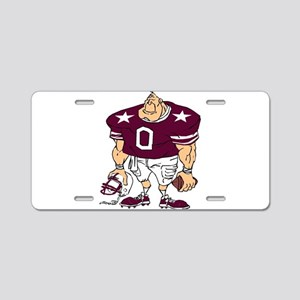 FOOTBALL-crimson1 Aluminum License Plate
