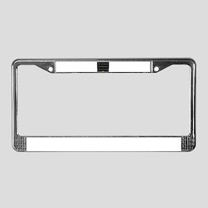 Black Upright Piano License Plate Frame