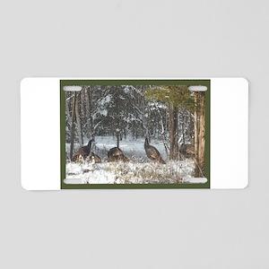 Wild Turkeys Aluminum License Plate