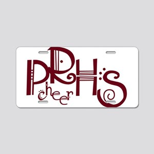 PRHSCHEER4 Aluminum License Plate