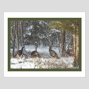 Wild Turkeys Small Poster