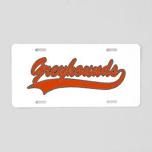 32330913GREYHOUNDS1 Aluminum License Plate