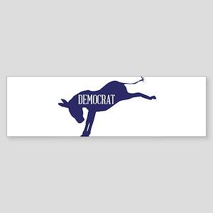 The Democrat Blue Donkey Bumper Sticker