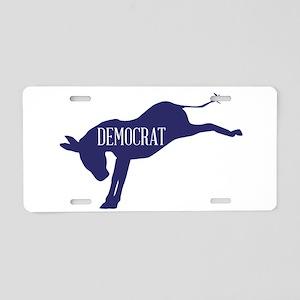 The Democrat Blue Donkey Aluminum License Plate