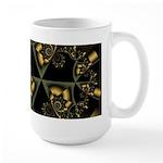 Large Gold Geometric Mug