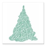 "Green Tree Square Car Magnet 3"" x 3"""