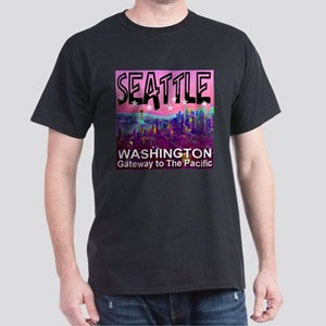 Seattle WA Gateway to the Pacific Dark T-Shirt