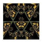 Gold Geometric Tile Coaster