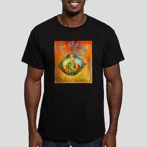 Let Change Men's Fitted T-Shirt (dark)